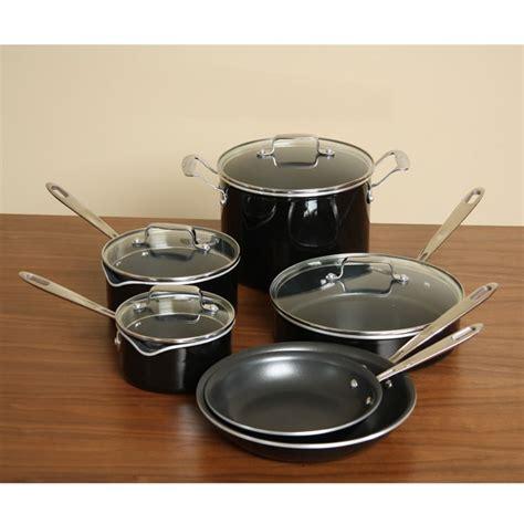 shop emeril hard enamel nonstick aluminum  piece cookware set  shipping today