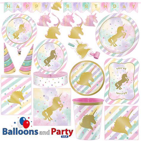 birthday party ideas rookie unicorn sparkle pony girl 39 s birthday party tableware
