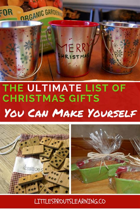 christmas gifts you can make the ultimate list of christmas gifts you can make yourself little sprouts learning