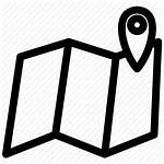 Icon Mapping Geolocation Location Map Trajectory Library