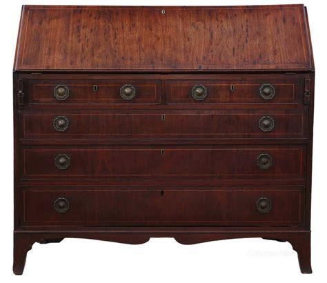 bureau table georgian mahogany bureau desk writing table antiques atlas