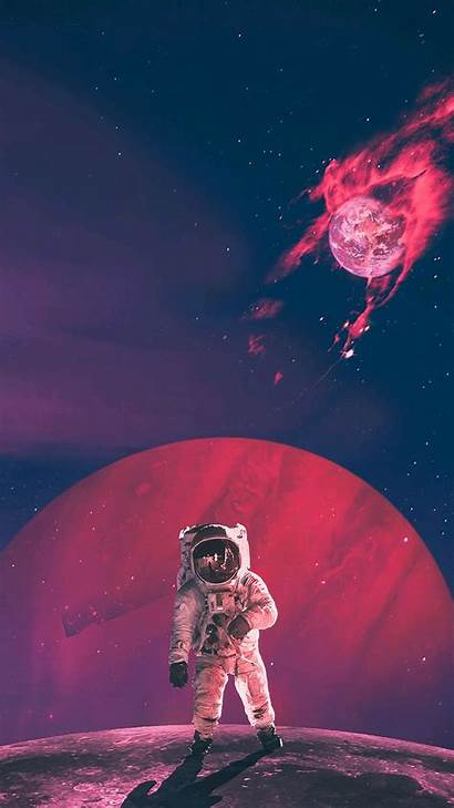 Iphone Astronaut Earth Burning Space Wallpapers Artwork