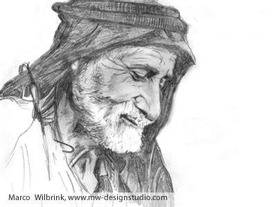 man face  yemen pencil drawing  marco stephano