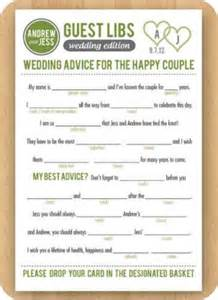 Wedding Mad Libs Guest Book