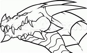 Easy Fire Breathing Dragon Head Drawings Coloring Page ...