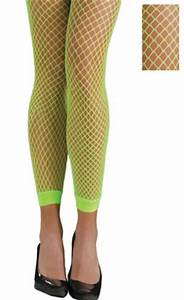 Adult Neon Green Footless Fishnet Stockings Party City