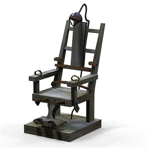 electric chair  asset cgtrader