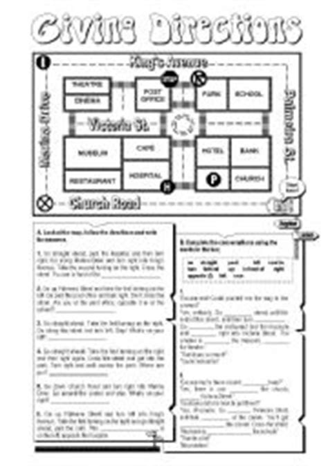 images  directions  spanish worksheet giving