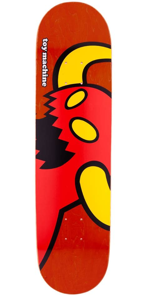 toy machine vice monster skateboard deck red stain 7 75 quot