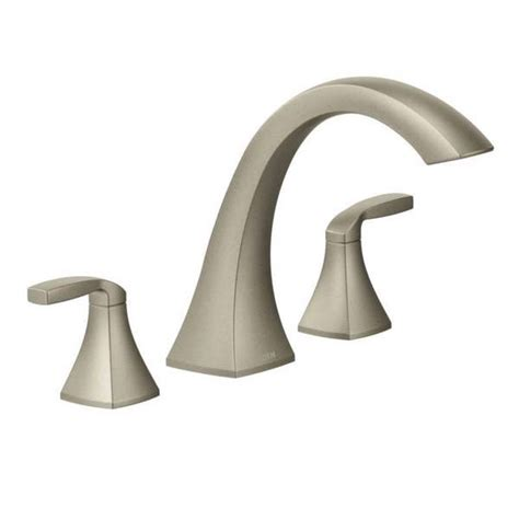 moen voss faucet brushed nickel moen voss brushed nickel two handle high arc tub