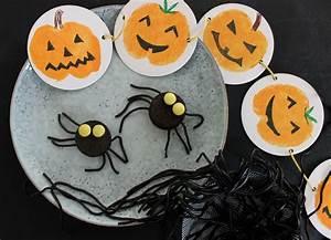 Ideen Für Halloween : ideen f r halloween dekoration und food girlande spinnencookies ~ Frokenaadalensverden.com Haus und Dekorationen