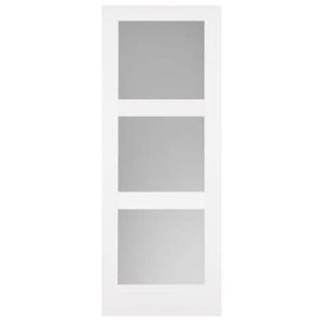 36 x 84 interior door masonite 36 in x 84 in primed 3 lite equal solid wood