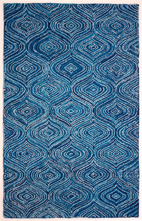 lantern blue skies rug recycled cotton area rug