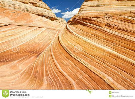 The Wave, Sandstone In Coyote Buttes North (arizona) Stock