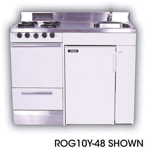 all in one kitchen sink and stove acme rog10y48 compact kitchen with stainless steel