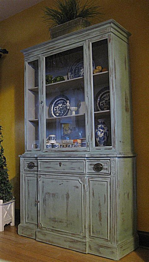 painted duncan phyfe china cabinet robins robin egg blue and antiques on