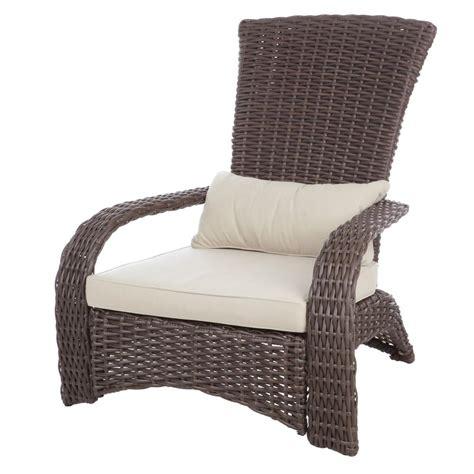 resin wicker chairs home depot patio sense coconino all weather wicker patio adirondack