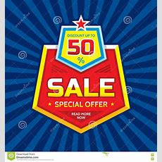 Sale Vector Banner  Discount Up To 50% Special Offer Concept Layout Read More Now Creative