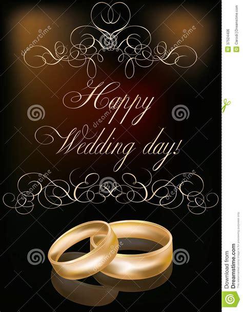 happy wedding day card royalty  stock image image