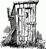 Outhouse Drawing Clipart Drawings Line Pencil Patterns Bathroom Burning Wood Coloring Pyrography Sketch Pages Google Trump Primitive Country Clip Mr sketch template
