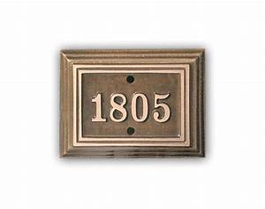 Oil Rubbed Bronze Address Plaques — The Decoras