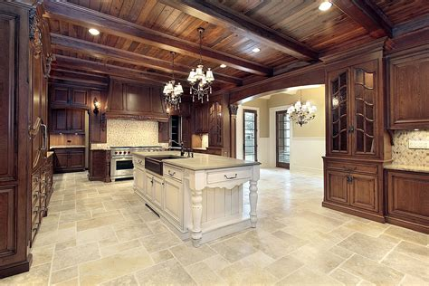 kitchen floor tile designs for a warm kitchen to