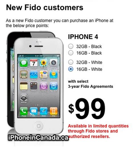 iphone 4 value rogers and fido drop iphone 4 price to 99 days before