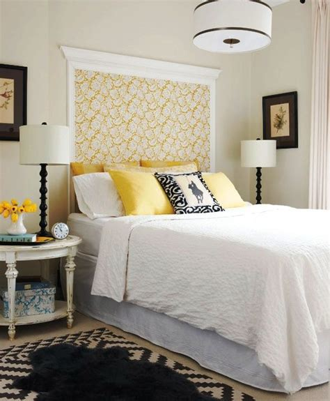 Crown Molding And Wallpaper As Headboard  For The Home