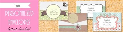 envelope template customize  print  home