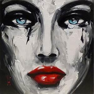 Peinture Visage Femme : c line lust visage de femme peinture sur toile ~ Melissatoandfro.com Idées de Décoration