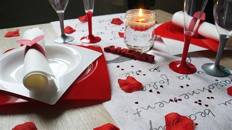 r 233 aliser sa d 233 coration de table de valentin