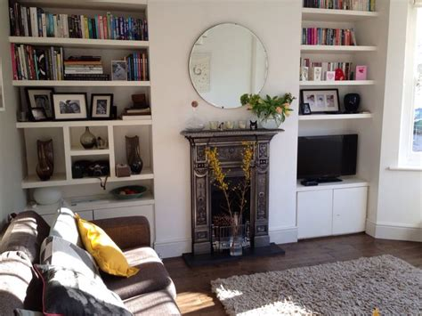 Small Victorian Living Room Ideas : Not Keen On This Fireplace, Or The Alcove Shelving Or