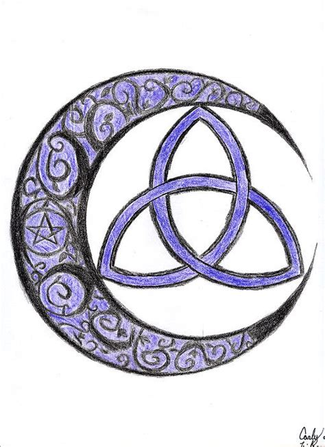 cresent triquetra  irischiyokodeviantartcom