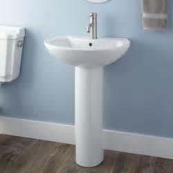 Pedestal Sinks In Bathrooms by Therese Pedestal Sink Bathroom