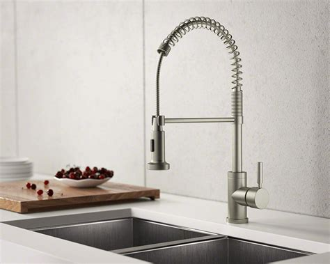 bn brushed nickel spring spout faucet