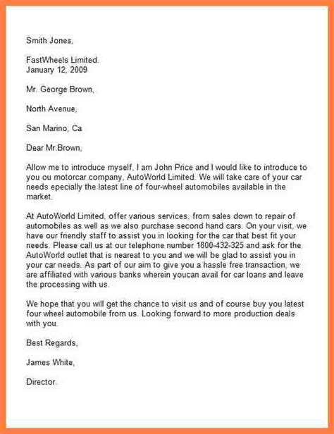 sample  introduction letter   company company