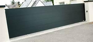 Portail Alu 4m : portail coulissant alu 4m pas cher porte de jardin ~ Voncanada.com Idées de Décoration