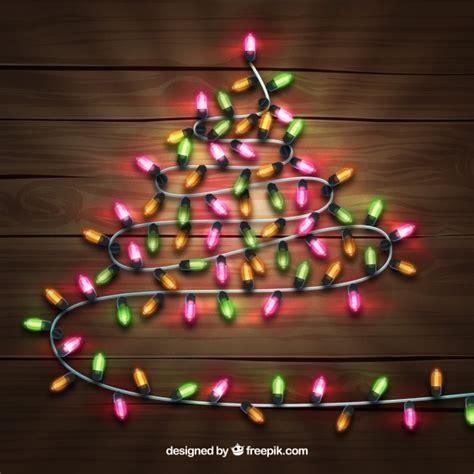 christmas tree made out of christmas lights vector free