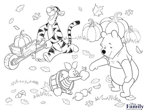 Winnie The Pooh Fall Coloring Pages 2805140