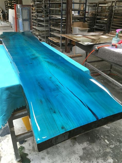 clear epoxy for table tops tabletop from elm with transparent epoxy colour resin
