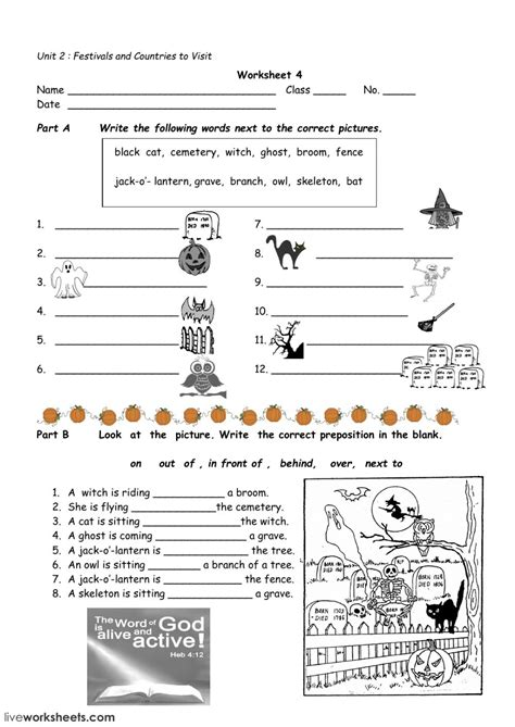 halloween worksheet  interactive worksheet