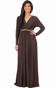 fd908f483e KOH KOH Women s Long Sleeve Caftan Maxi Dress with Glamorous Belt