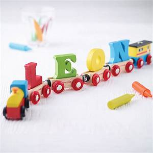 Wooden name train by letteroom notonthehighstreetcom for Baby name train letters