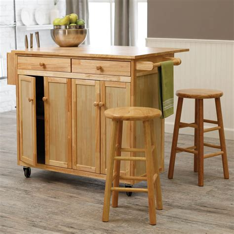 Portable Breakfast Bar Table Kitchen Cart Island Stools by 10 Types Of Small Kitchen Islands On Wheels