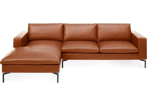 standard leather sofa chaise hivemoderncom