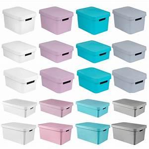 Aufbewahrungsboxen Kunststoff Mit Deckel : aufbewahrungsbox deckel curver ordnung aufbewahrung box 4 5 11 17 30 45 liter ebay ~ Markanthonyermac.com Haus und Dekorationen