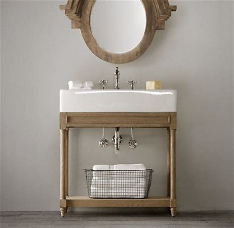 Single Sink Consoles Bathroom by Vanities Sinks Restoration Hardware Weathered Oak