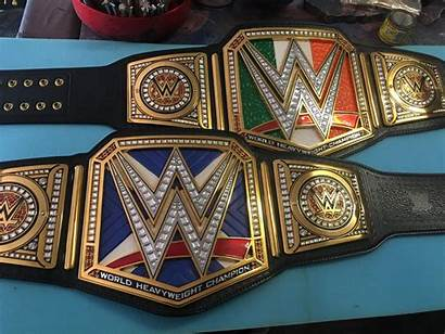 Wwe Belt Universal Flag Heavyweight Leather Patches