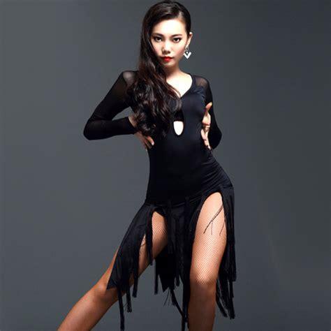 2018 Vestido Latino Danza Latina Tassel Fringe Dance Skirt