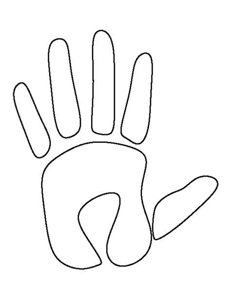 printable handprint template